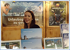 Luise - Betreuung Messestand ALPenjoy