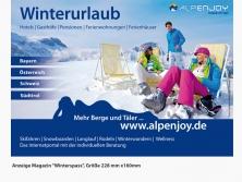 """ALPenjoy Anzeige im Magazin """"Winterspass"""""""