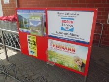 Werbung am REWE Ahlerstedt