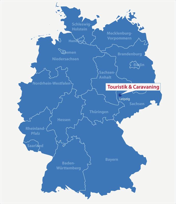Karte Standort Touristik & Caravaning in Leipzig