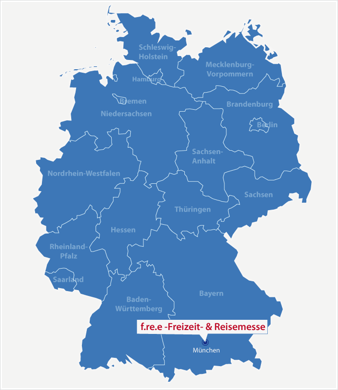 Karte Standort f.re.e Freizeit Reisen Erholung