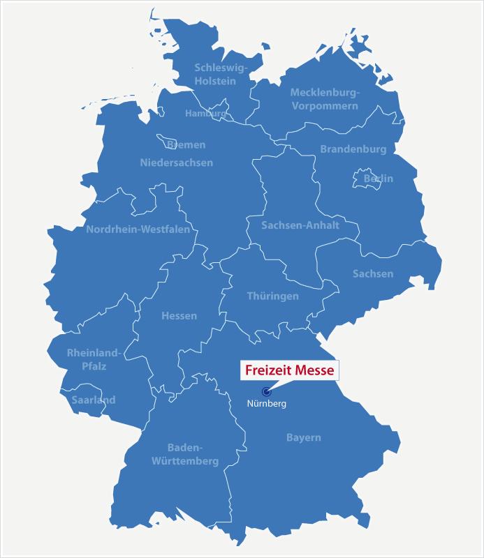 Karte Standort Freizeit Messe