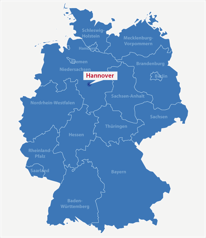 Karte Standort Hannover