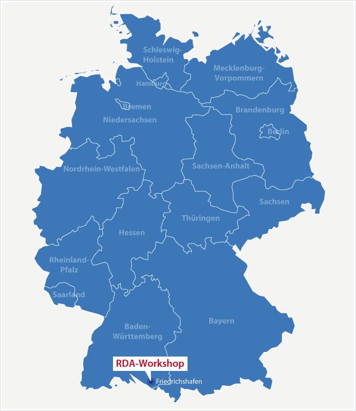 Karte Standort RDA Workshop