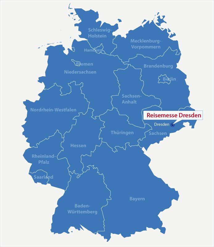 Karte Standort Reisemesse Dresden
