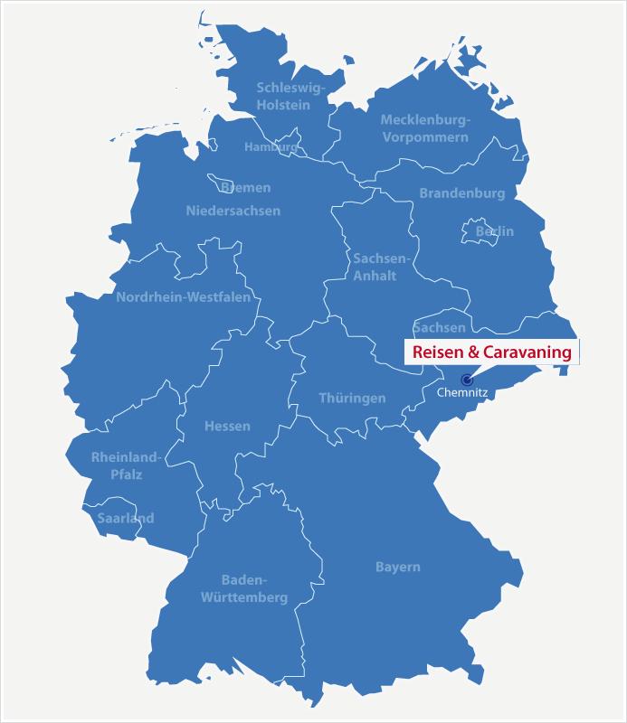Karte Standort Reisen & Caravaning in Chemnitz