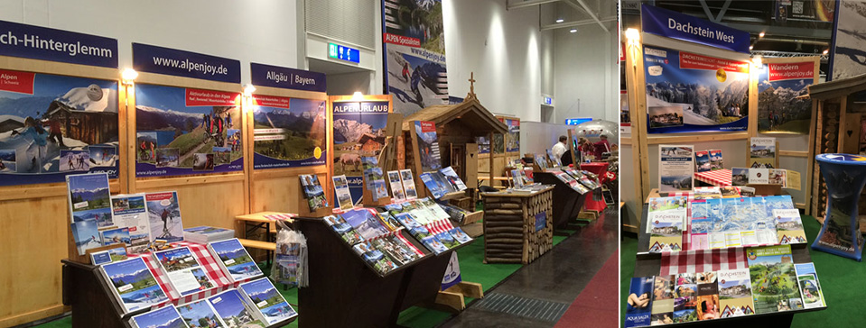Alpen-Messestand