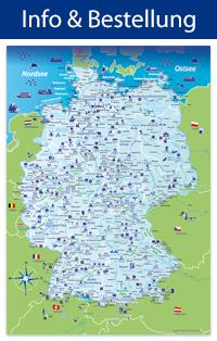 Deutschland-Karte als Riesenposter
