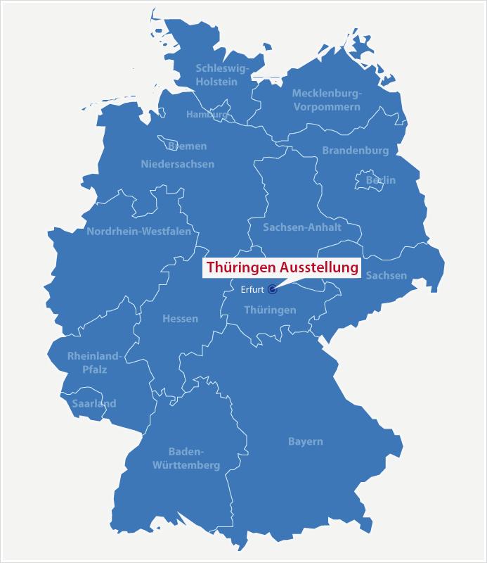 Karte Standort Thüringen Ausstellung Erfurt