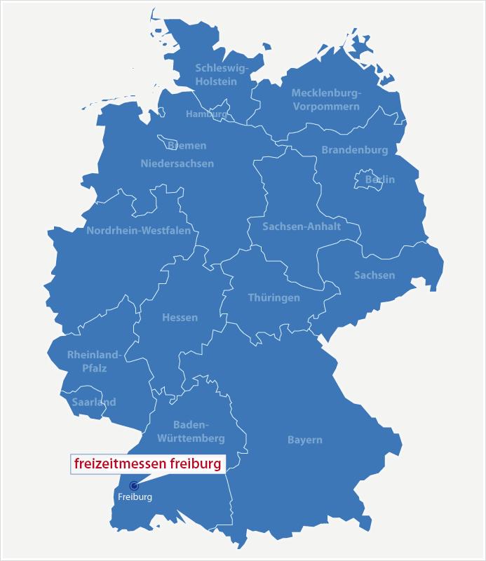 Karte Standort freizeitmessen freiburg