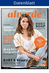 Datenblatt dm-Magazin 'alverde'