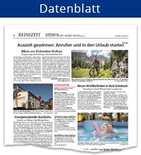 Datenblatt ReiseZeit-Tageszeitungskombi