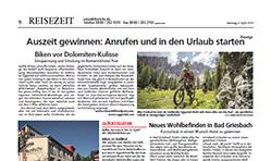 """""""ReiseZeit"""" - Wochenendmagazin in über 50 Tageszeitungen"""