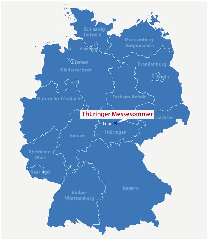 Karte Standort Thüringer Messesommer Erfurt